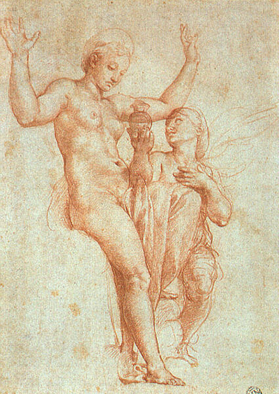 Psyche Presenting Venus with Water from the Styx Raphael