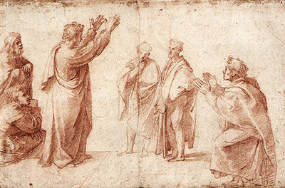 Study for St Paul Preaching in Athens Raphael