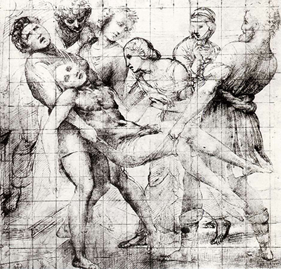 Study for the Entombment in the Galleria Borghese Rome Raphael
